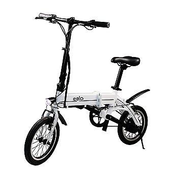 Eelo 1885 folde elektrisk cykel - transportabel og nem at butikken i campingvogn, autocamper, båd. Kort gebyr Lithium-ion batteri og Silent Motor Ebike, tommelfinger gashåndtaget og Lcd hastighed Display.