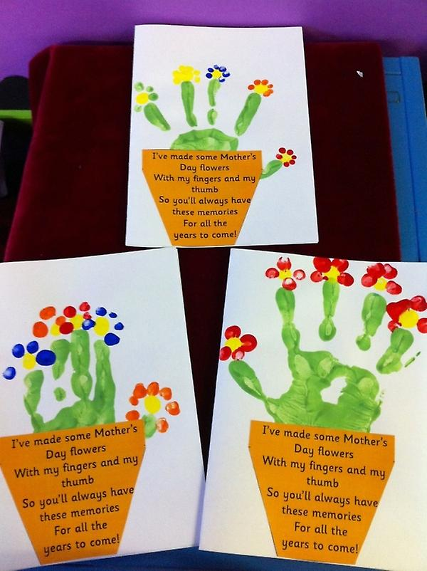 Giant Hand & Foot Print Paint Pad for MOTHERS DAY, FATHERS DAY Crafts, Cards, Flowers.
