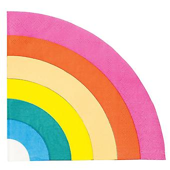 Birthday Brights Rainbow Shaped Paper Party Napkins x 16