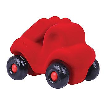 Rubbabu Soft Plush Little Fireman Rubba Fire Engine (Red) Sensory Squishy