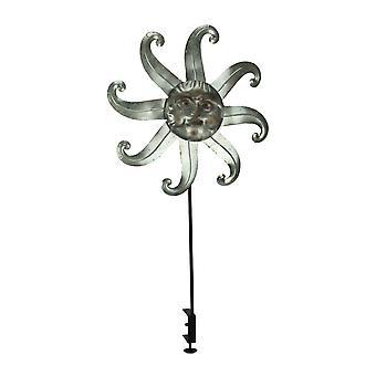 Metal Celestial Sun Deck Mount Wind Spinner