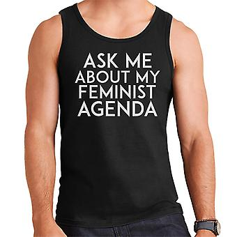 Ask Me About My Feminist Agenda Men's Vest