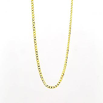 Eternity 9ct Gold 20'' Open Diamond Cut Solid Curb Chain
