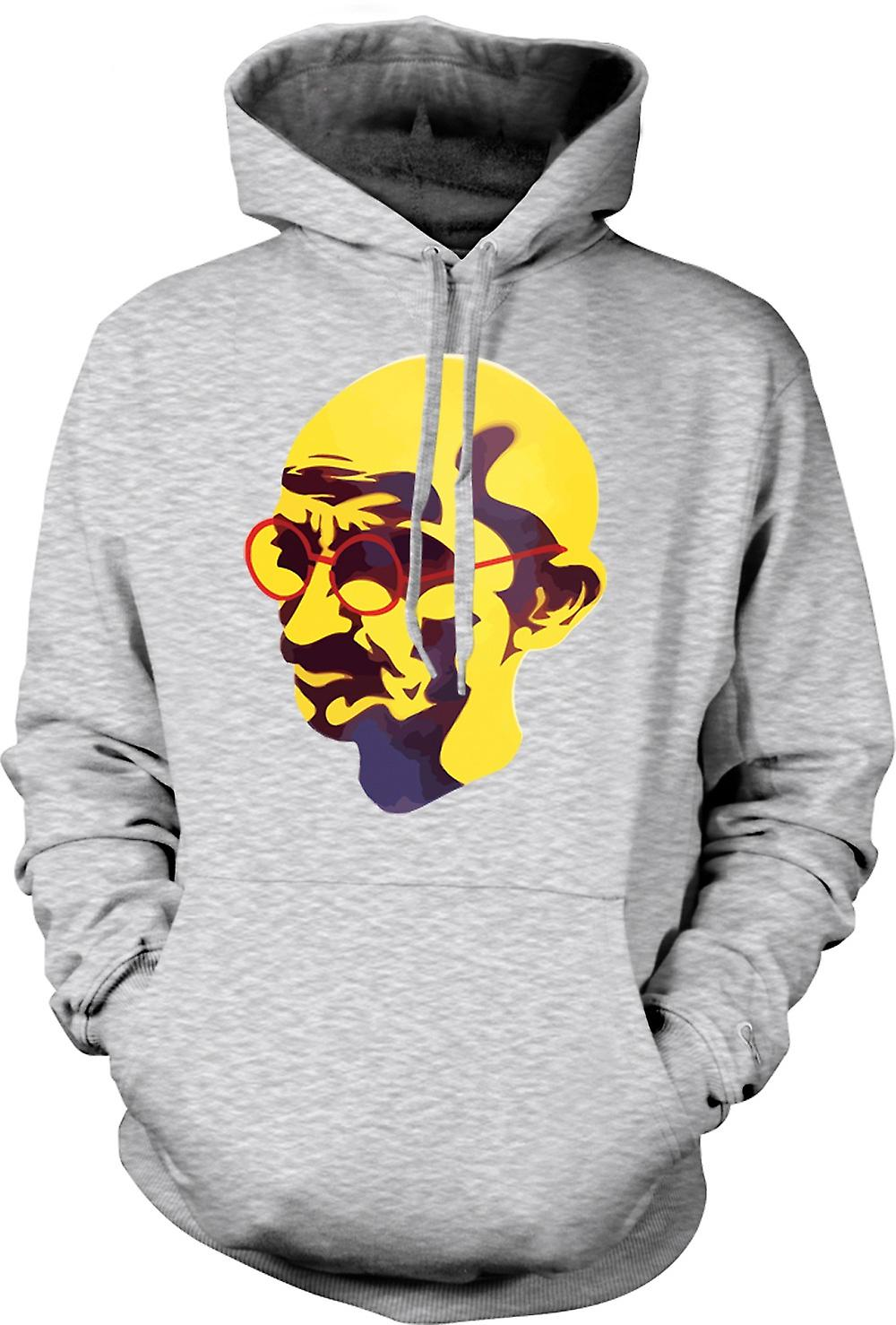 Mens Hoodie - Mahatma Gandhi - Indian Icon