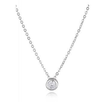 Rhodié serti Clos Silver Halsband med zirkonium kubik