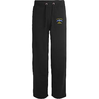 1 PARA 1st Parachute Regiment Wings - Vétéran - Licensed British Army Embroidered Open Hem Sweatpants / Jogging Bottoms