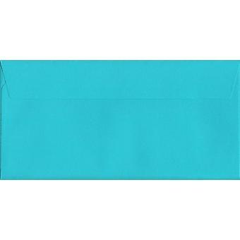 Cocktail blå skal/tätning DL + färgade blå kuvert. 120gsm Luxury FSC-certifierat papper. 114 mm x 229 mm. plånbok stil kuvert.