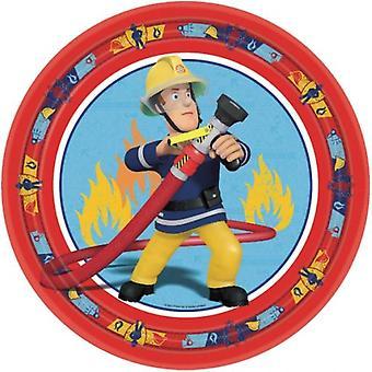 Liragram 8 Plates Fireman Sam, 23 cm diameter (Babies and Children , Costumes)