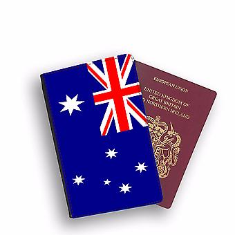 AUSTRALIA Flag Passport Holder Style Case Cover Protective Wallet Flags design