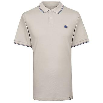 Pretty Green Washed Look Tipped Pique Polo Shirt