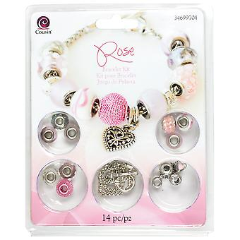 Large Hole Bracelet Kit Rose 14Pcs 34699 704