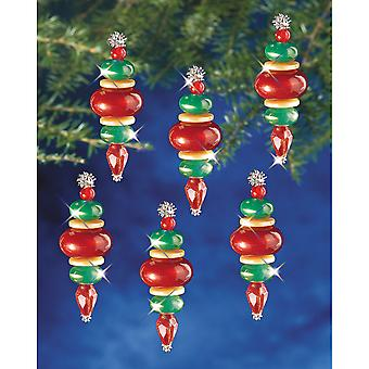 Holiday Beaded Ornament Kit Victorian Baubles 2 1 4