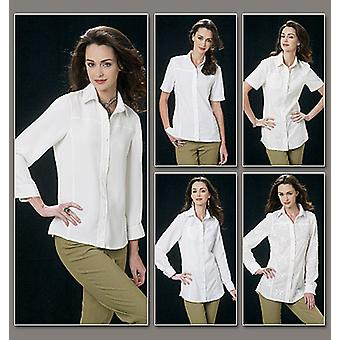 Misses' Shirt  E5 14  16  18  20  22 Pattern V8689  E50