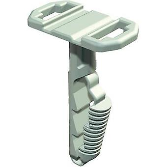 Cable mount brickwork plug-fit Light grey OBO Be