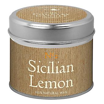 Simply Natural Collection Candle in a Tin - Sicilian Lemon