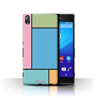 STUFF4 Case/Cover for Sony Xperia Z4/5 Tiles/Blue/Pastel Tiles