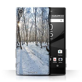 STUFF4 Case/Cover for Sony Xperia Z5/5.2/Snowy Forest/Winter Season