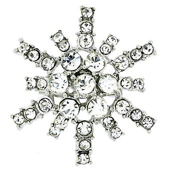 Broches magasin petit argent & broche flocon de neige cristal Starburst