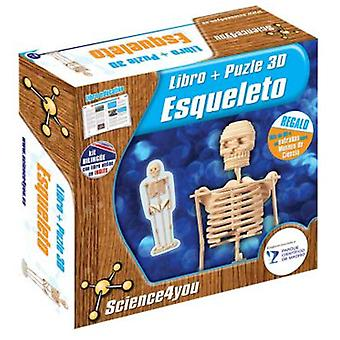 Science 4 You Book + Puzzle 3D Skeleton (Toys , Educative And Creative , Vocabulary)