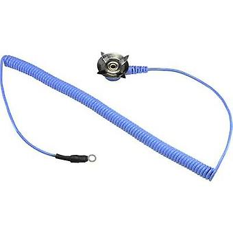 ESD earth cable for mats 3.05 m Conrad Components 4 mm eyelet