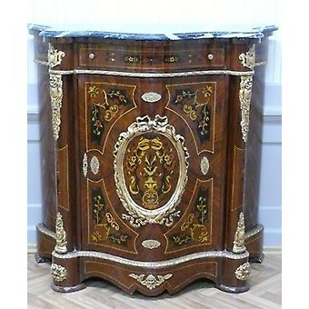 Baroque sideboard antique style chest of drawers marble platen Baroque antique style LouisXV MoKm0447B