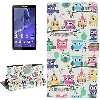Mobile case bag for mobile phone Sony Xperia Z3 compact colorful OWL party