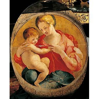 Madonna With Child Poster Print