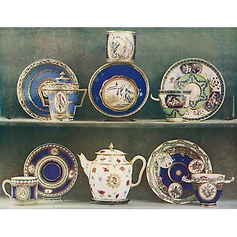 Sevres porcelain decorated with emblems of the French Revolution From a contemporary print PosterPrint