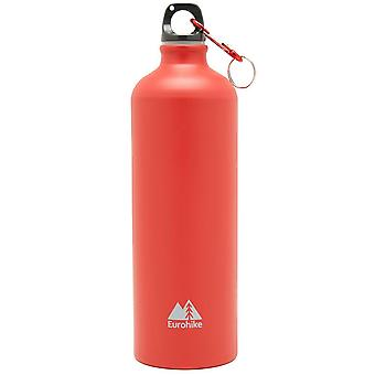 New Eurohike Aqua 1L Aluminium Water Bottle Hydration Flasks Red