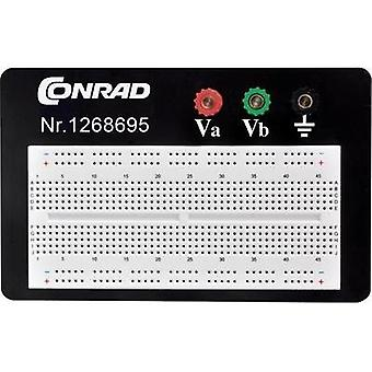 Breadboard Total number of pins 1800 (L x W x H) 114.3 x 186.2 x 8.4 mm Conrad Components 0165-40-1-3301B 1 pc(s)