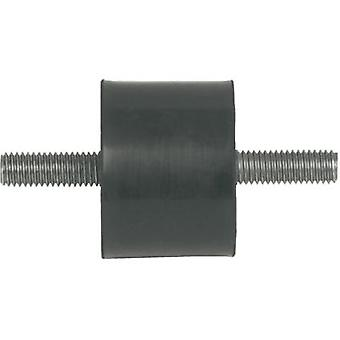 PB Fastener 100504 Threaded Buffer Outer-/outer thread Black