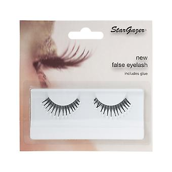 Stargazer False Feather Eyelashes No.39 Black and White Beads