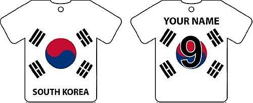 Personalised South Korea Flag Jersey Car Air Freshener