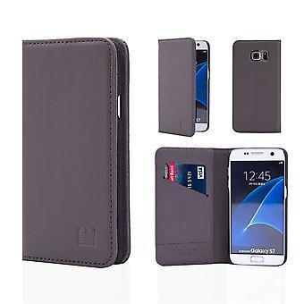 32nd classic ægte læder tegnebog til Samsung Galaxy S7 G930 - elefant grå