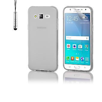 Crystal Gel case + penna för Samsung Galaxy J5 (2015) SM-J500 - klart