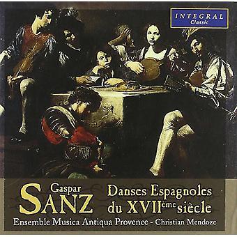 Sanz - Danses Espagnoles Du Xviio [CD] USA importerer