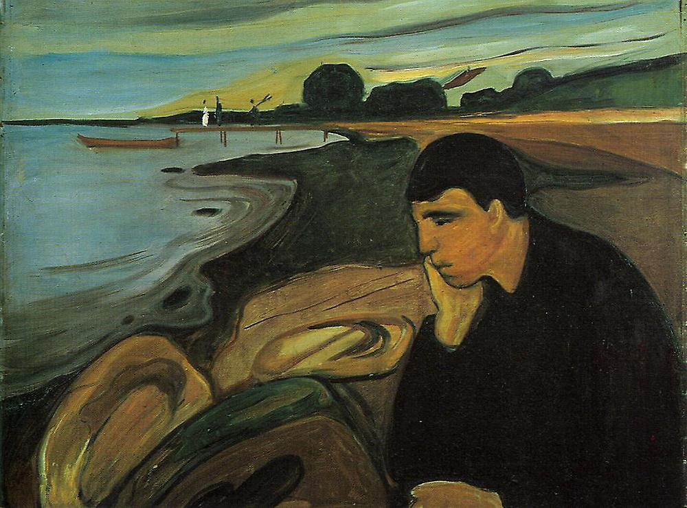 despair edvard munch Edvard munch: beyond the scream edvard's aunt karen her hands raised to the sides of her head while a distraught lover holds his head in despair munch was in.
