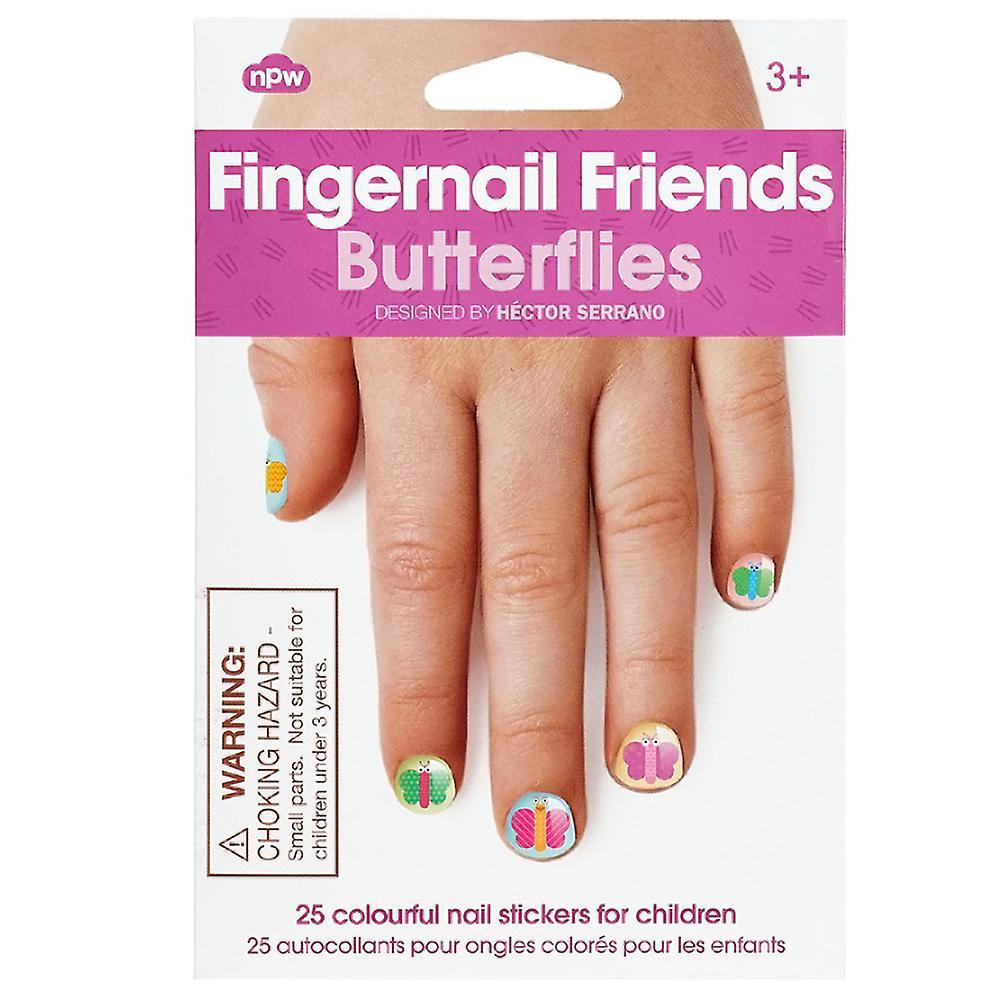 NPW Fingernail Friends, Butterflies Nail Art