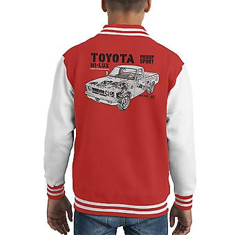 Haynes Workshop handmatige Toyota Hi Lux Black Kid's Varsity Jacket