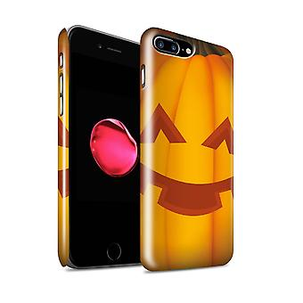 STUFF4 Gloss Hard Back Snap-On Phone Case for Apple iPhone 7 Plus / Happy Design / Halloween Pumpkin Collection