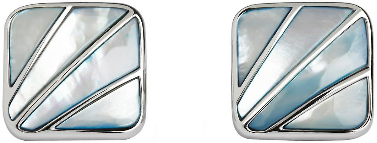 Simon Carter Deco Fan Mother of Pearl Cufflinks - Blue
