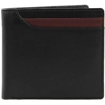 Dents Smooth Leather Billfold Wallet - Black