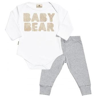 Verwöhnte faulen Baby Bear Babygrow & Baby Jersey Hose Outfit-Set