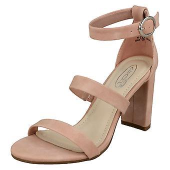 Kære plet på dobbelt strop højhælede sandaler F10769
