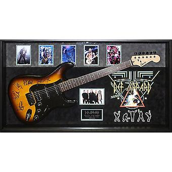 Def Leppard Signed Guitar Custom Framed