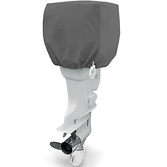 Trailerable Outboard Boat Motor Engine Cover 25-50 Horsepower - Gray Heavy Duty Water, Mildew, and UV Resistant Thick Polyester Fabric