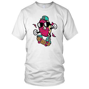 Donut Skater - Cool Skate Surfer Mens T Shirt