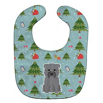 Carolines Treasures  BB4719BIB Christmas Glen of Imal Grey Baby Bib