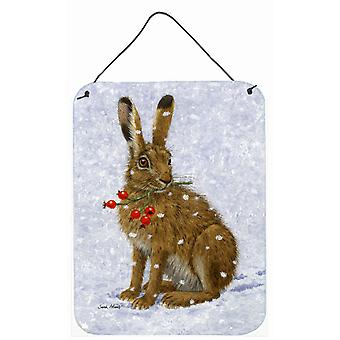 Rabbit Hare & Rosehips Wall or Door Hanging Prints