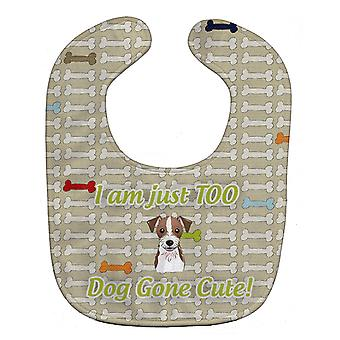 Carolines Treasures  BB5771BIB Too Cute Jack Russell Terrier Baby Bib